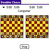 [ Screen shot of Double Chess on Palm OS® handheld ]